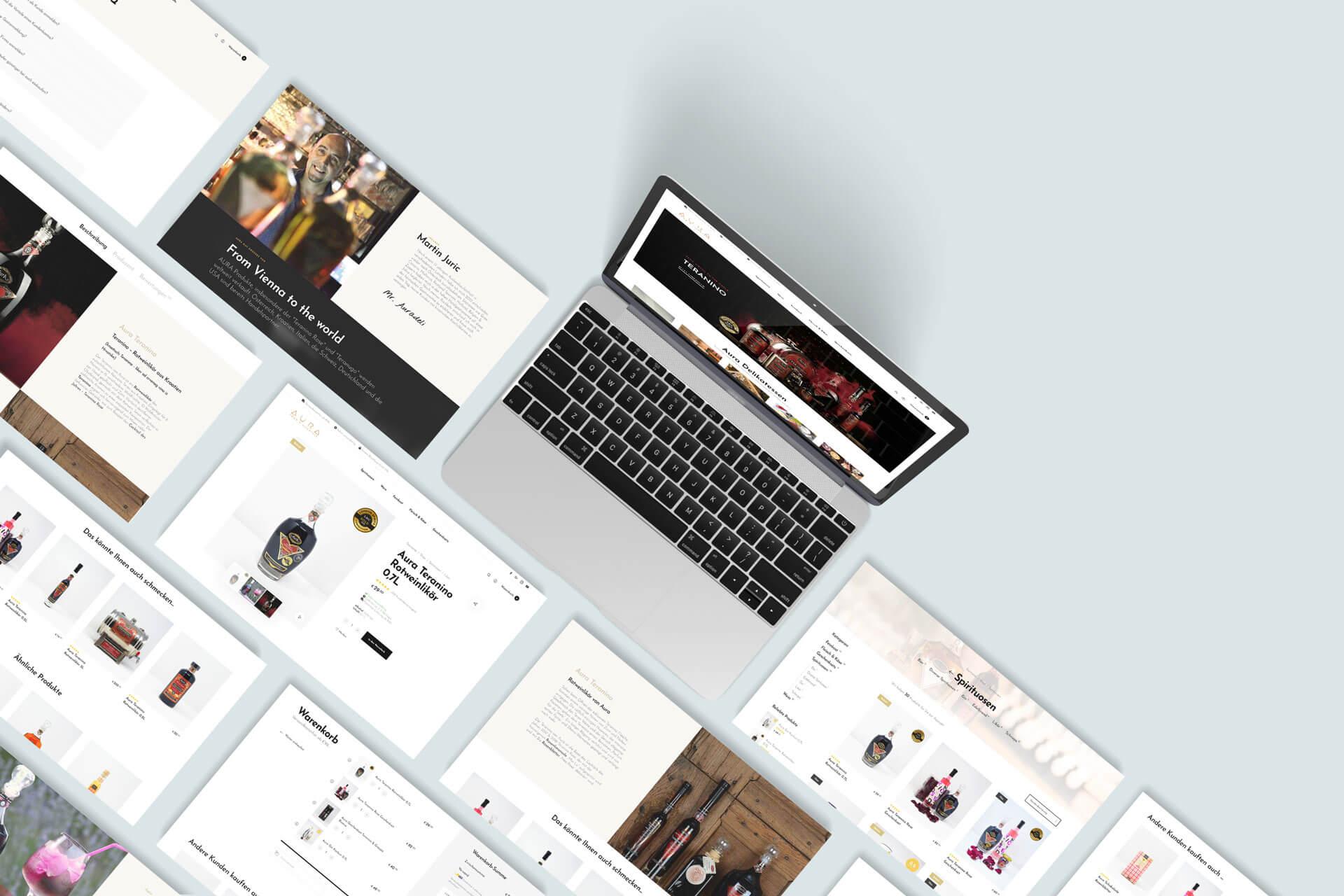 Aura Delikatessen Webshop Projekt Kunde Redshaper