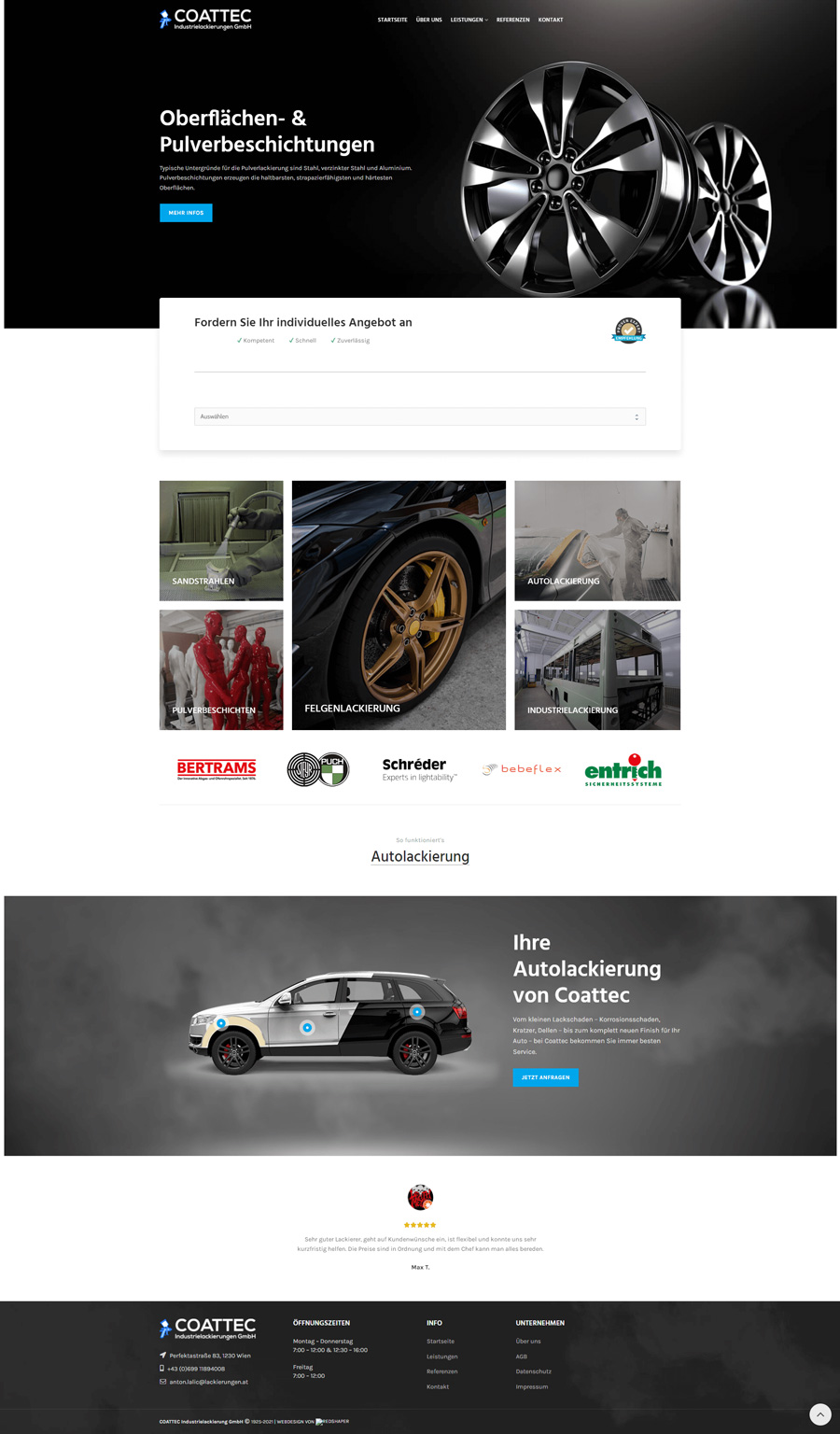 Referenz-Kunde-Website-erstellen-Coattec-Lackierungen-Redshaper-Webdesign